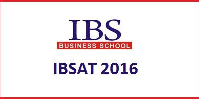 IBSAT ENTRANCE EXAM 2016